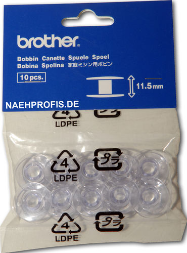 BROTHER CB-Spulen (Kunststoff) 10er Pack (11,5 mm)