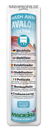 MADEIRA Stickvlies AVALON ULTRA - transparent, Artikelnr. 9441 (Rolle 30 cm x 3 m)
